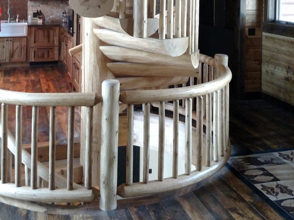 Log Spiral Stairs