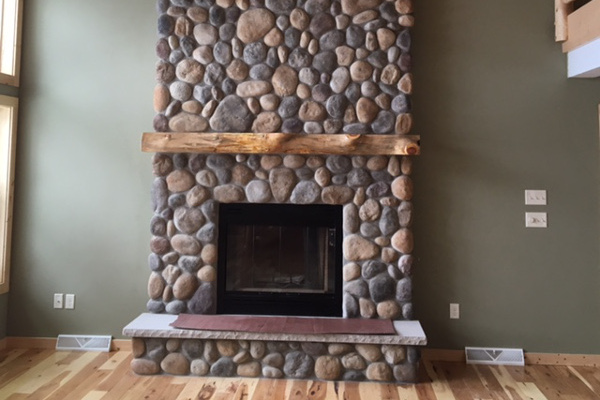 Live edge mantel